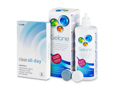 Clear All-Day (6 kpl) + Gelone -piilolinssineste 360 ml
