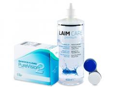 PureVision 2 (6kpl) +Laim-Care-piilolinssineste 400ml