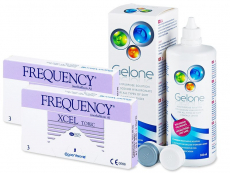 FREQUENCY XCEL TORIC XR (2x3 kpl) + Gelone-piilolinssineste 360 ml