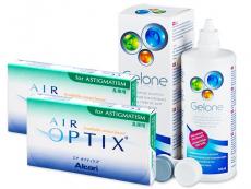 Air Optix for Astigmatism (2x3kpl) +Gelone-piilolinssineste 360ml