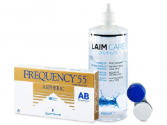 Frequency 55 Aspheric (6kpl) +Laim-Care-piilolinssineste 400ml