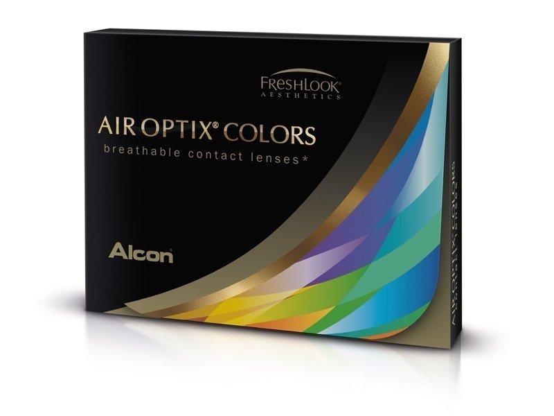 Ruskeat piilolinssit - tehoilla - Air Optix (2kpl)