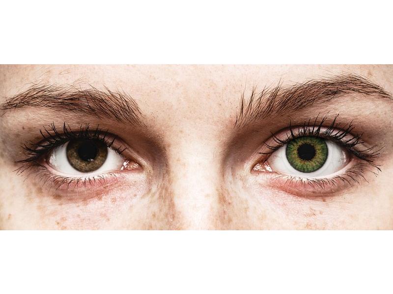 Vihreät piilolinssit - Air Optix (2kpl)
