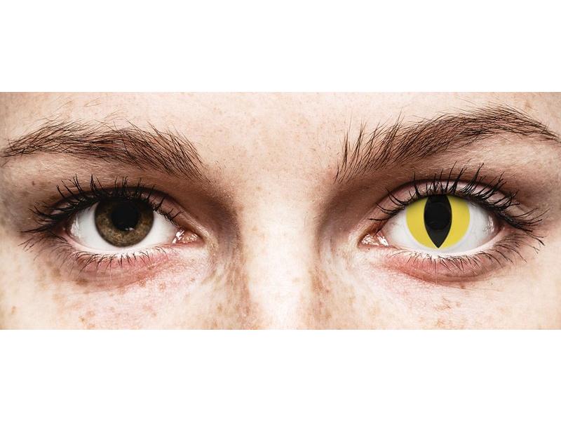 Keltaiset Cat Eye linssit - ColourVue Crazy (2 kpl)