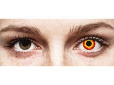 Punaiset ja Keltaiset Wildfire linssit - ColourVue Crazy (2 kpl)