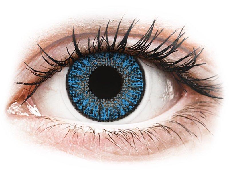 Siniset Sapphire piilolinssit - tehoilla - TopVue Color (10kpl)