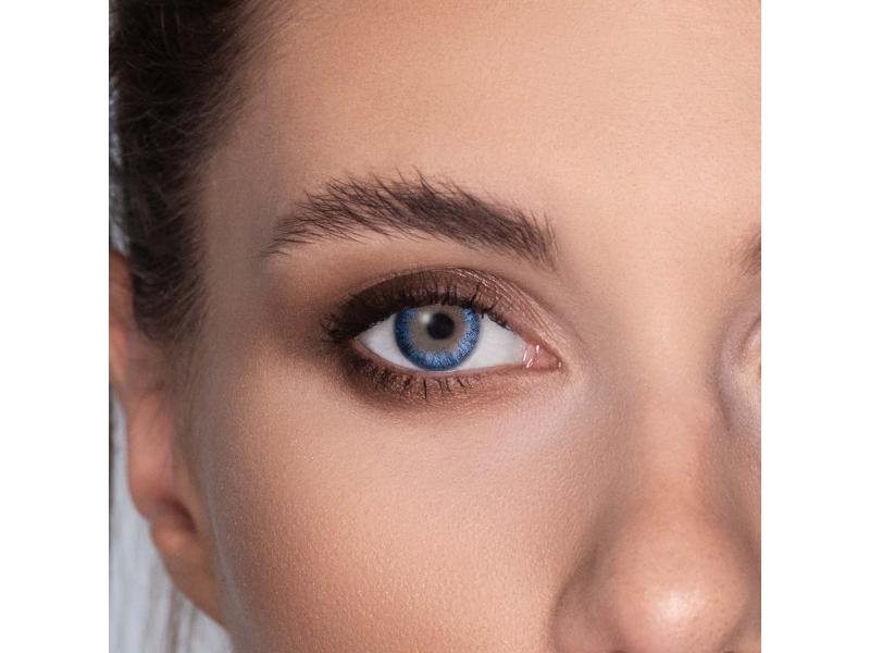 Siniset True Sapphire piilolinssit - tehoilla - TopVue Color (2kpl)
