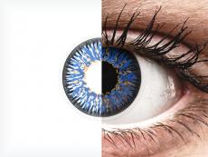 Siniset Glamour piilolinssit - tehoilla - ColourVue (2kpl)