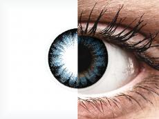 Siniset Cool piilolinssit - tehoilla - ColourVue BigEyes (2kpl)