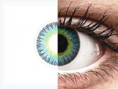 Keltaiset ja Siniset Fusion linssit - tehoilla - ColourVue (2kpl)