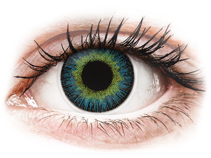 Keltaiset ja Siniset Fusion linssit - ColourVue (2kpl)
