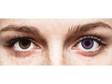 Violetit Indigo piilolinssit - SofLens Natural Colors - Tehoilla (2 kpl)