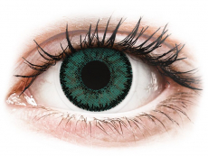 Vihreät Jade piilolinssit - SofLens Natural Colors - Tehoilla (2 kpl)