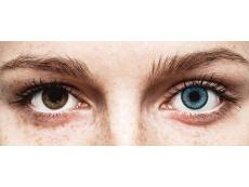 Siniset Pacific piilolinssit - SofLens Natural Colors - Tehoilla (2 kpl)
