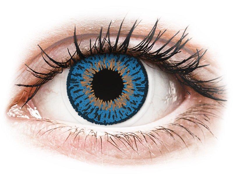 Tumman Siniset piilolinssit - tehoilla - Expressions Colors (1 linssi)