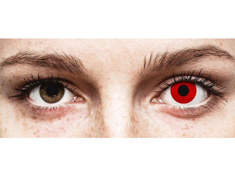 Punaiset Devil kertakäyttö piilolinssit - ColourVue Crazy - Kertakäyttö (2 kpl)