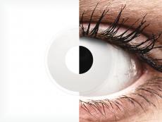 Valkoiset WhiteOut piilolinssit - ColourVue Crazy - Kertakäyttö (2 kpl)