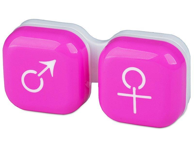 Piilolinssikotelo man&woman - pinkki