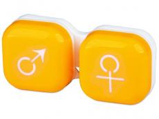 Piilolinssikotelo man&woman - keltainen