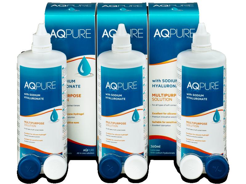 AQ Pure -piilolinssineste 3 x 360ml