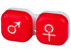 Piilolinssikotelo man&woman - Punainen