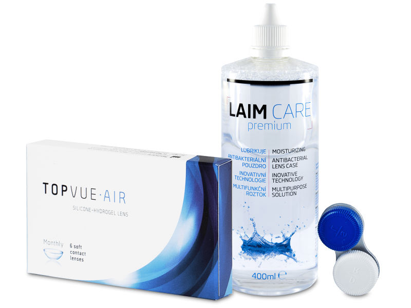 TopVue Air (6 kpl) + LAIM-CARE-piilolinssineste 400 ml