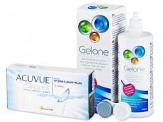 Acuvue Oasys (12 kpl) + Gelone-piilolinssineste 360 ml