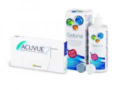 Acuvue 2 (6 kpl) + Gelone-piilolinssineste 360 ml