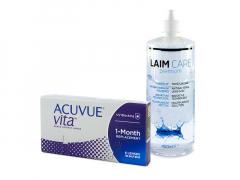 Acuvue Vita (6 kpl) + Laim-Care-piilolinssineste 400 ml