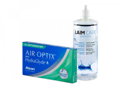 Air Optix plus HydraGlyde for Astigmatism (3 kpl) + Laim-Care-piilolinssineste 400 ml