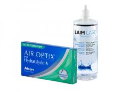Air Optix plus HydraGlyde for Astigmatism (6 kpl) + Laim-Care-piilolinssineste 400 ml