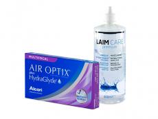 Air Optix plus HydraGlyde Multifocal (6 kpl) + Laim-Care-piilolinssineste 400 ml