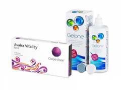 Avaira Vitality Toric (3 kpl) + Gelone-piilolinssineste 360 ml