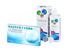 Bausch + Lomb ULTRA (3 kpl) + Gelone-piilolinssineste 360 ml