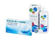 Bausch + Lomb ULTRA (6 kpl) + Gelone-piilolinssineste 360 ml