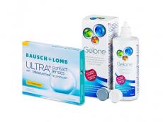 Bausch + Lomb ULTRA for Presbyopia (3 kpl) + Gelone-piilolinssineste 360 ml