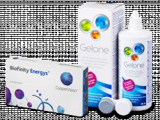 Biofinity Energys (3 kpl) + Gelone-piilolinssineste 360 ml