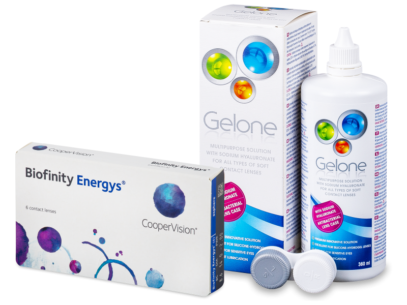 Biofinity Energys (6 kpl) + Gelone-piilolinssineste 360 ml