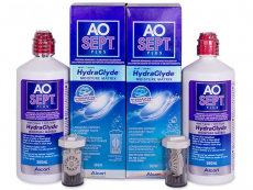 AO SEPT PLUS HydraGlyde -piilolinssineste 2x360 ml