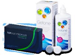 TopVue Premium for Astigmatism (6kpl) +Gelone -piilolinssineste 360 ml