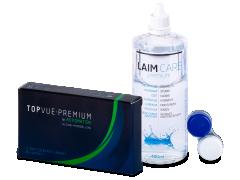 TopVue Premium for Astigmatism (3 kpl) +Laim-Care piilolinssineste 400ml