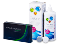 TopVue Premium for Astigmatism (3kpl) +Gelone -piilolinssineste 360ml