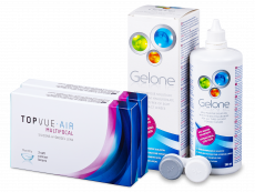 TopVue Air Multifocal (6 kpl) + Gelone-piilolinssineste 360 ml