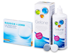 Bausch + Lomb ULTRA for Astigmatism(3 kpl) + Gelone-piilolinssineste 360 ml