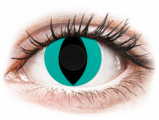 CRAZY LENS - Cat Eye Aqua - Ei-Dioptriset (2 gekleurde daglenzen)
