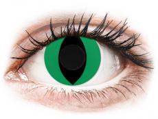 CRAZY LENS - Cat Eye Green - Ei-Dioptriset (2 gekleurde daglenzen)