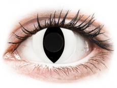 CRAZY LENS - Cat Eye White - Ei-Dioptriset (2 gekleurde daglenzen)