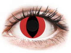 CRAZY LENS - Cat Eye Red - Ei-Dioptriset (2 gekleurde daglenzen)
