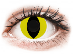CRAZY LENS - Cat Eye Yellow - Ei-Dioptriset (2 gekleurde daglenzen)