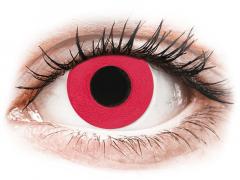 CRAZY LENS - Solid Red - Ei-Dioptriset (2 gekleurde daglenzen)